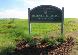 Sign for Dr. Robert B. Hayling Freedom Park